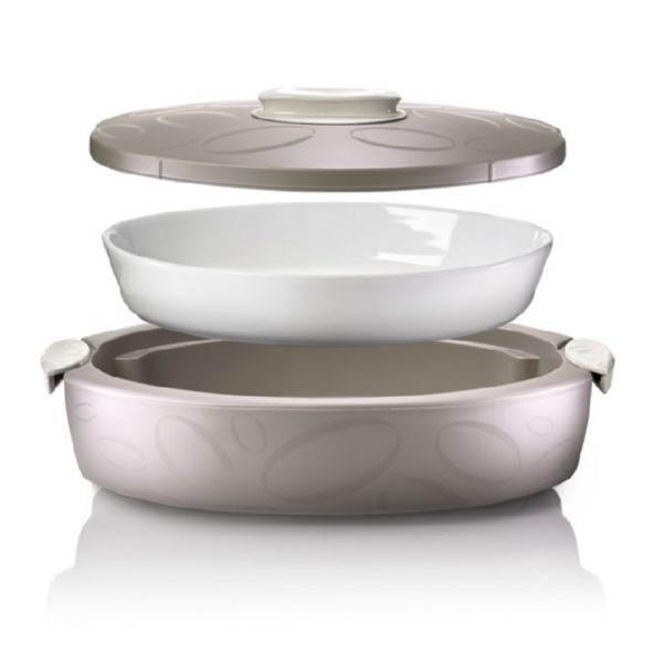 FUENTE HORNO OVAL 45X28X13CM HERMETICO PORCELANA/EPS AVELL.